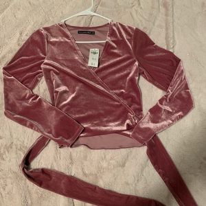Abercrombie and Fitch Velvet wrap top